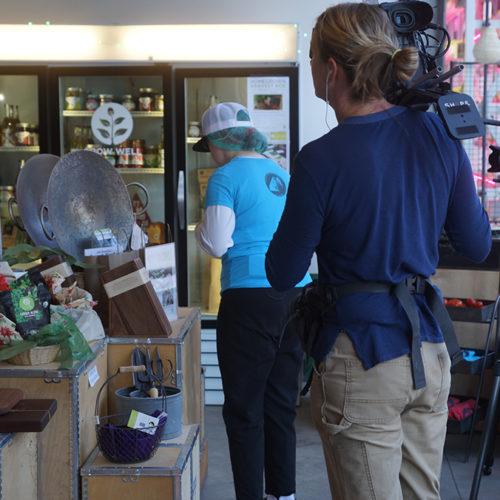 Photo of Filming at Vertical Harvest Market (click for larger)