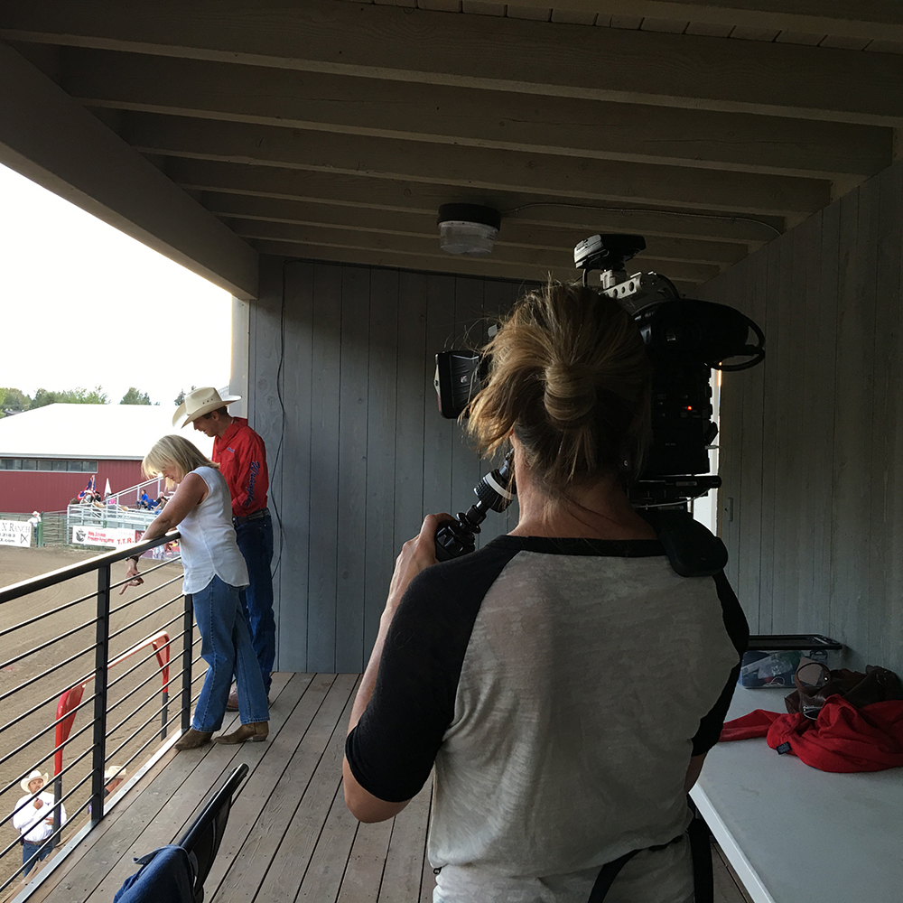 Photo of Filming at JH Rodeo Grounds (click for larger)
