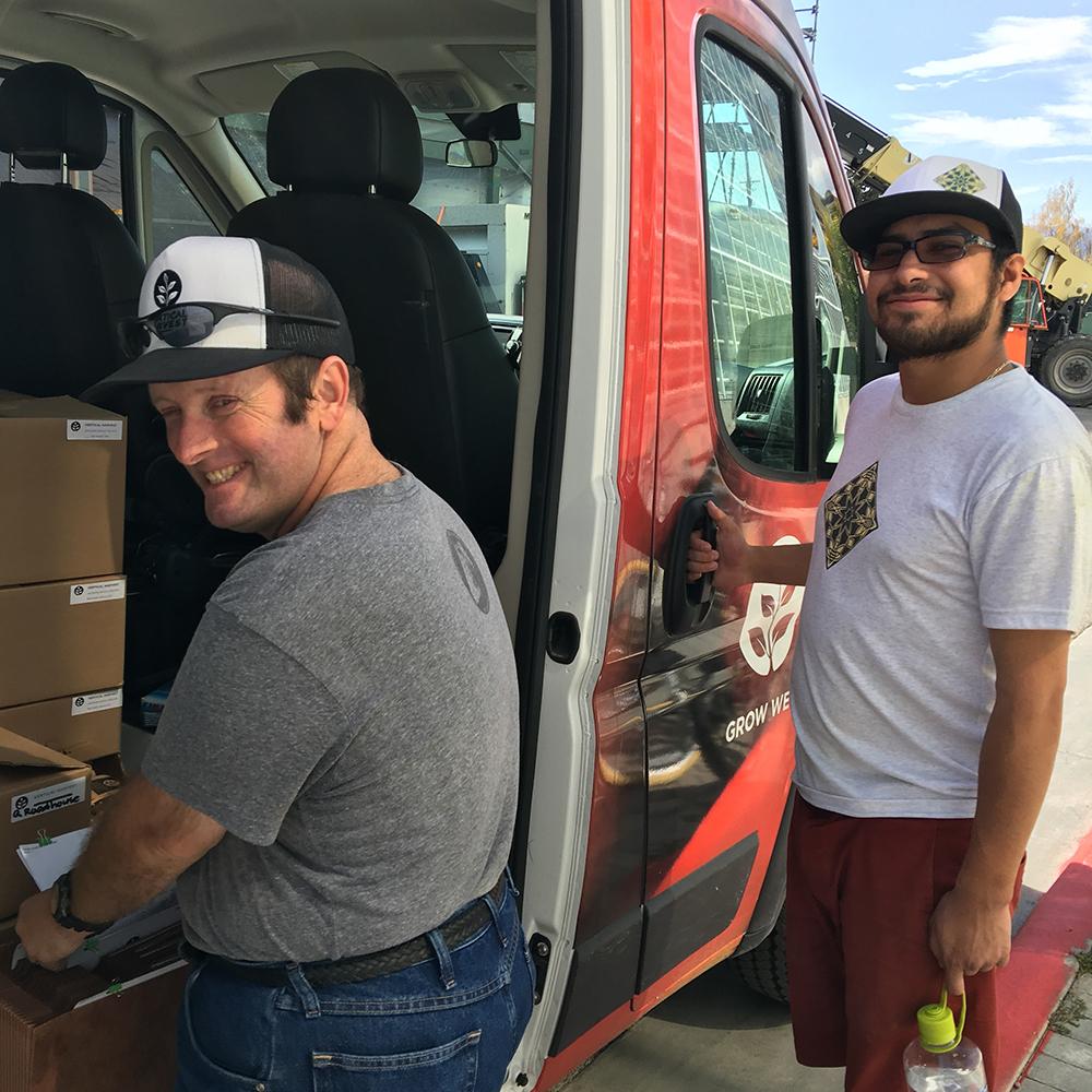 Photo of Vertical Harvest Workers Delivering Goods (click for larger)